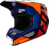 FOX V1 Prix Motocross Helm Blau/Orange XS