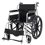 QiHaoHeji Ligera Silla de Ruedas Transporte de Acero de aleación de Aluminio con Silla de Ruedas, Ancianos y discapacitados con Silla de Ruedas Manual Silla de Transporte