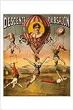 1890Dekorative Old Fashion Zirkus-Poster 24x