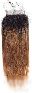 YESONEEP ブラジルストレート横糸人間の髪の毛4 x 4