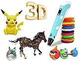 Pluma de Impresión 3D con Impresion 3D Inteligente Compatible con PLA y ABS, Pantalla LCD, 3D Pen Juguetes/Regalos para Niños