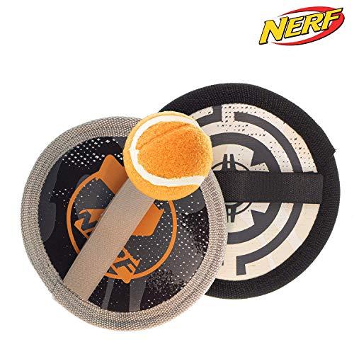 L+H Neopren-Klettballspiel |NERF FANGBALLSPIEL - DAS ORIGINAL| Klett-Ballspiel für Kinder & Erwachsene | Hochwertiges Fangball-Spiel 20,5CM ideal als Spielzeug & Beschäftigung für Draussen im Garten