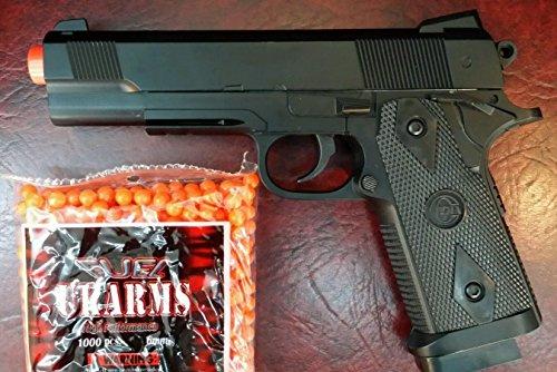 heavy duty metal spring airsoft gun pistol with free 1000 bb's bullets ammo(Airsoft Gun)