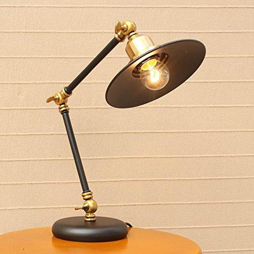 Pointhx Retro Nostalgia Ajustable Swing Arm Lámpara de Mesa Escritorio Luz Dormitorio Bedside Living Iluminación de Escritorio Simple Personalidad Mecánico Lámpara de Mesa de Metal Fixture