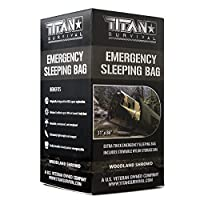 "Titan Emergency Sleeping Bag/Thermal Bivy | Woodland CAMO | PE, 36"" x 78"" [並行輸入品]"