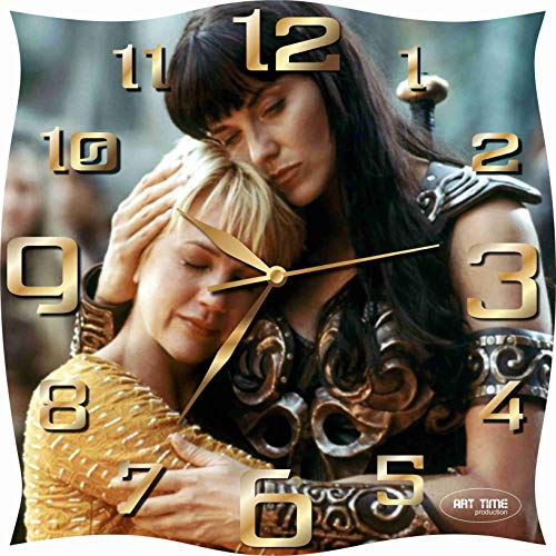 Art time production Xena : Warrior Princess 11.8'' Handmade Unique Wall Clock - Get Unique décor for Home or Office – Best Gift Ideas for Kids, Friends, Parents