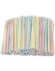 EOINSHOP 1000 Kleurrijke Plastic Rietjes Drinken Rietjes, Flexibel Plastic Rietjes Voor Sap, Drankjes, Melk, Thee, Cocktailglazen, Feest Thee (Color : 1000 pcs)
