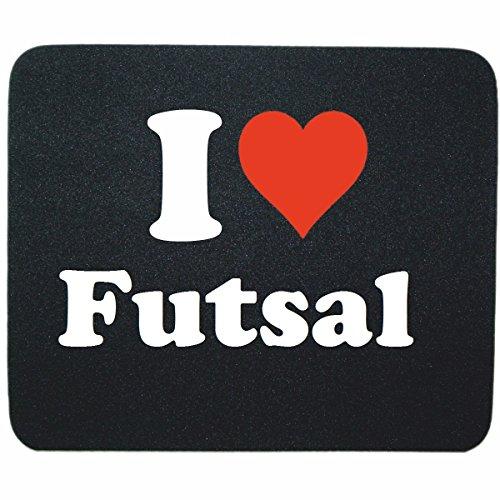 """Gaming Mauspad \""""I Love Futsal\"""" in Schwarz, eine tolle Geschenkidee die von Herzen kommt  Rutschfestes Mousepad   Geschenktipp: Weihnachten Jahrestag Geburtstag Lieblingsmensch"""