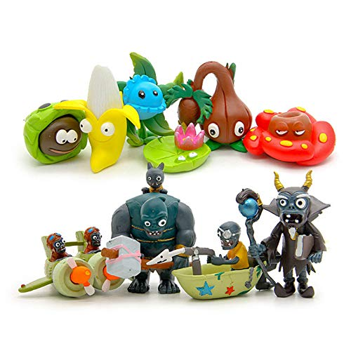xingguang Figura de anime 10 unids/set planta vs zombi serie 3 anime figura juguetes 2-7 cm PVZ PVC generación 9 modelo colectivo muñecas niños juguetes