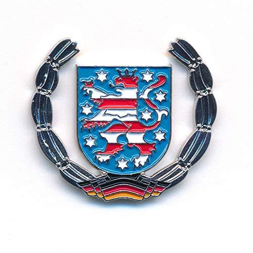 Freistaat Thüringen Wappen Erfurt Deutschland Flagge Edel Pin Anstecker 0932