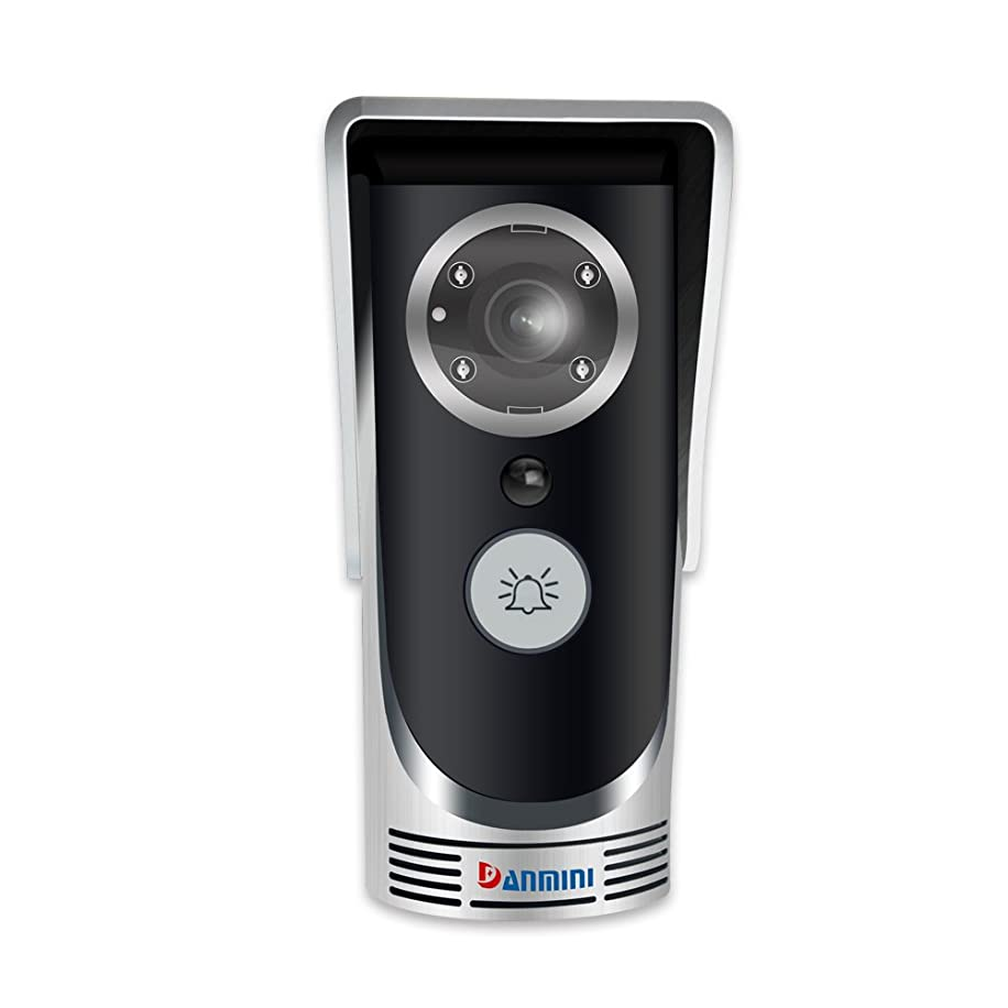 WiFi Wireless Video Doorbell Intelligent Voice 145 Degree Wide Wide Angle Mobile Monitoring Infrared Night Vision Remote Control Access Control System,Silver