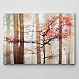 WEXFORD HOME Orange Awakening Gallery Wrapped Canvas Wall Art, 24x36