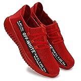 HEEDERIN Men's Red Comfortable Mesh Lace up Sport's/Running/Walking/Gym/Jogging/Unisex Shoe 7 UK