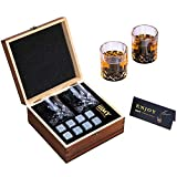 iiiMY Whiskey Stones and Glasses Gift Set, Whiskey Rocks Chilling...