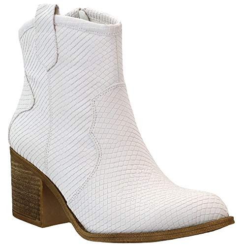 Dirty Laundry by Chinese Laundry Women's Unite Western Boot, White, 5
