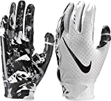 NIKE Youth Vapor Jet 5.0 Receiver Gloves 2018 (White/Black, Large)