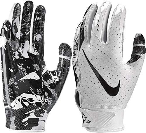 Nike Youth Vapor Jet 5.0 Receiver Gloves 2018 (White/Black, Small)
