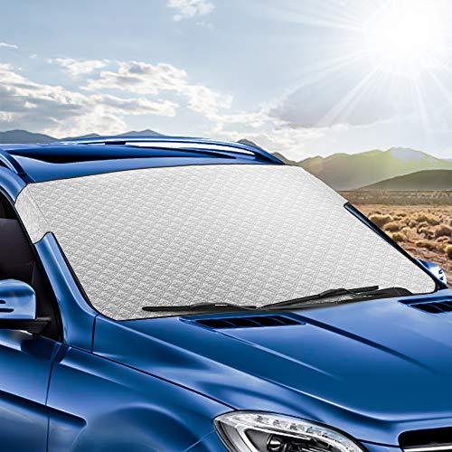 Tsumbay Auto Frontscheibe Sonnenschutz Abdeckung UV-Schutz Frontscheibenabdeckung Faltbare Sonnenblende Auto Scheibenabdeckung Windschutzscheibe Frostabdeckung