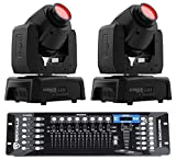(2) Chauvet Intimidator Spot 110 Compact Moving Head Lights+DMX Controller