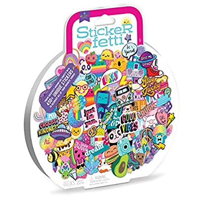 Craft-tastic – Stickerfetti – Includes 450+ Cute & Trendy VSCO Stickers for Kids and Teens – Decorate Notebooks, Phones, Laptops, and More!