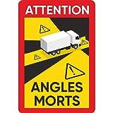 lepni.me 30 Pegatinas Attention Angles Morts Esquinas Muertas sobre Vehículos Pesados para Camión