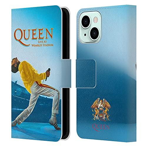 Head Case Designs Licenza Ufficiale Queen Freddie Mercury Live At Wembley Arte Chiave Cover in Pelle a Portafoglio Compatibile con Apple iPhone 13 Mini