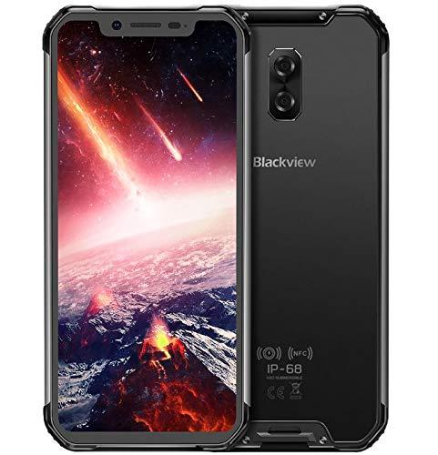 Blackview BV9600 Pro – Avanzado Dual Sim Smartphone Libre 4G LTE (2019), Pantalla 19:9 FHD AMOLED (Biseles Ultra Estrechos), Helio P60 6GB+128GB, IP68/IP69K Impermeable al Agua/Polvo - Negro