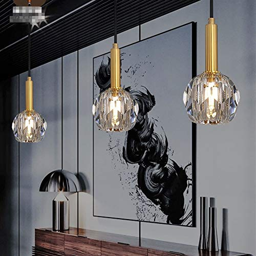 Candelabros La lámpara nórdica de cobre de la lámpara llevada del hotel del dormitorio del restaurante de la lámpara llevada llevó la lámpara, 90-260V Para casa ( Emitting Color : Warm light )