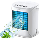 Portable Air Conditioner, Nanssigy Personal Oscillating Mini Air Cooler, Desk Fan Evaporative Cool Mist Humidifiers Air Circulator, Perfect for Bedroom, Office, Small Room