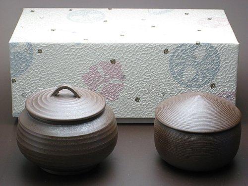 喜太八しぐれ 万古焼 壺 勇山作 2個セット それぞれ200gほどのしぐれ煮を中に入れることが可能です