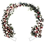 JC HUMMINGBIRD 5 Ft White Round Table Arbor Various Climbing Plant Wedding Garden Arch Bridal Party Decoration Arbor(with Screwdriver, Instruction Sheet)