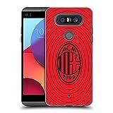 Head Case Designs Officiel AC Milan Rouge Et Noir Art Coque Dure pour l'arrière Compatible avec LG...