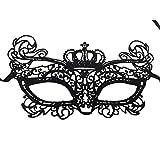 Celebrabox Máscara Seductora de Encaje para Fiestas de Disfraces, Sorprenda de Forma discreta, al Mismo Tiempo Que parezca Estar maquillada de Color Negro (Royal)
