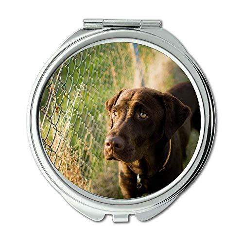 Yanteng Spiegel, Kleiner Spiegel, Animal Bull Terrier Hunde, Taschenspiegel, 1 X 2X Vergrößerung