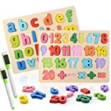 Colmanda Puzzle en Bois, 2 Pcs Alphabet en Bois et Numéro...