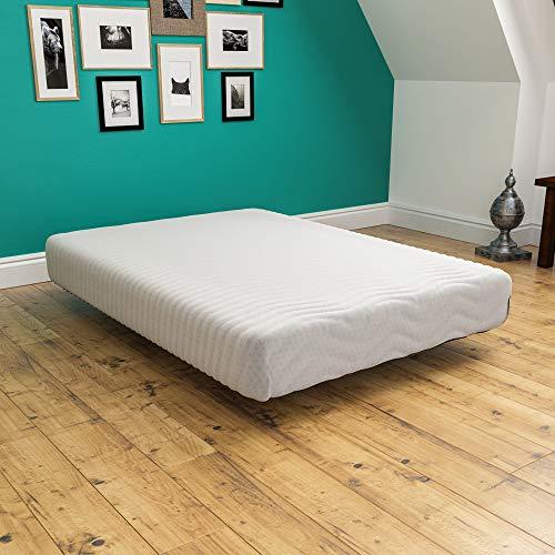 Vida Designs Ultimate Memory Foam Mattress, Upholstered, Medium Firmness, Rolled, Double 4ft6, 9 Inch, UKFR