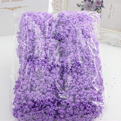 144 stuks/synthetisch schuim over de hele hemel ster prei bloemboeket bruiloft decoratie diy krans krans collage kunstbloemen, paars