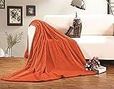 Elegant Comfort Ultra Super Soft Fleece Plush Luxury Blanket King/Cal King Orange