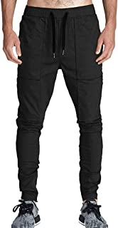 SANFASHION Work Trousers Mens Fashion Multi Pockets Slim Fit CasualSolid Color Cargo Heavy Workwear Long Pants