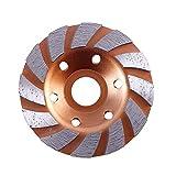 Disc Grinder Granit-Stein-Diamant-Segment Grinding-Schalen-Rad 100mm Vibrationswerkzeug-Zubehör (Farbe : 2#)