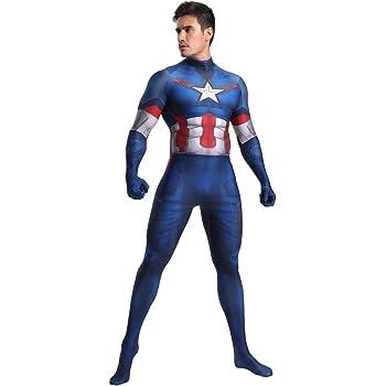 FYBR Disfraz de Capitán América SuperSkin para Adultos, Unisex ...