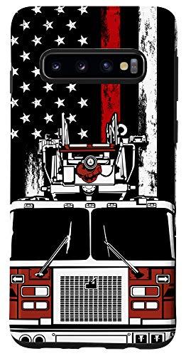 Galaxy S10 US Flag Firefighter Phone Case Firetruck Gift Fireman Phone Case