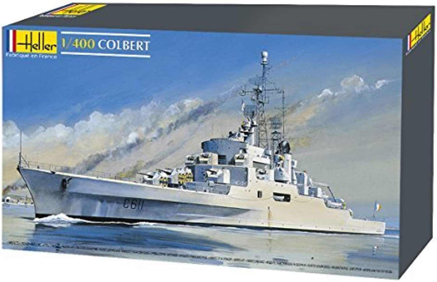 alto descuento Heller Colbert French Anti-Air Cruiser Cruiser Cruiser Boat Model Building Kit by Heller  el mas reciente