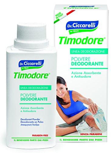 Timodore Polvos Desodorante - 2 Recipientes de 75 ml - Total: 150 ml