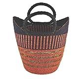 Damen Shopper/Einkaufstasche/Ghana-Korb - Steppengras - Fair Trade (Hirse - offen)