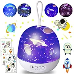 🎁【Best Kids Star Night Light】: (1) 8 models; (2) 4 sets of scenes, including: unicorn, star sky, ocean animals, galaxy; (3) 360 degree rotation;(4) 4*AAA batteries powered(not included)/ USB cable; (5) Come with 3 luminous Stickers. 🎁【Baby Light Lamp...