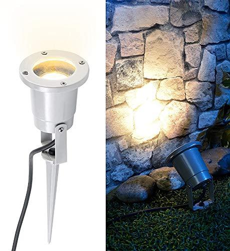 Luminea Pflanzenstrahler innen: Indoor-Pflanzenstrahler, einflammig, GU10, grau 1,5M Kabel (LED Pflanzenstrahler)