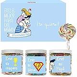 SMARTY BOX Caja Regalo Día del Padre Caramelos y Gominolas , Cumpleaños Papá, Cesta Golosinas Chuches Dulces sin Gluten, Fabricado en España
