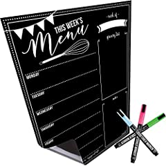 WHILE OTHER MAGNETIC MENU BOARDS have the same generic designs, include cheap markers with writing you can barely see, and require relentless scrubbing to clean every month, the Cinch! Magnetic Menu board features a super cute design with amazingly b...