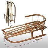 Rawstyle - Trineo de madera con respaldo y cuerda